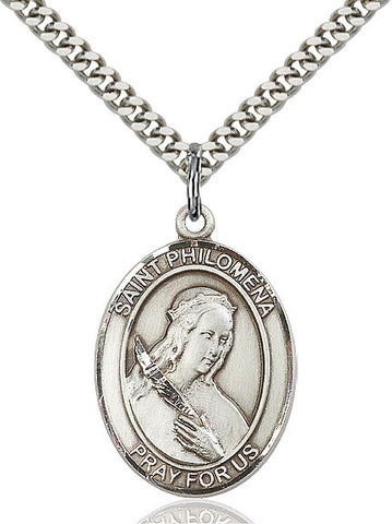 St. Philomena Sterling Silver 1""