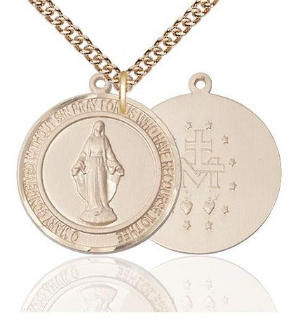 Gold Filled Round Miraculous Medal 1""