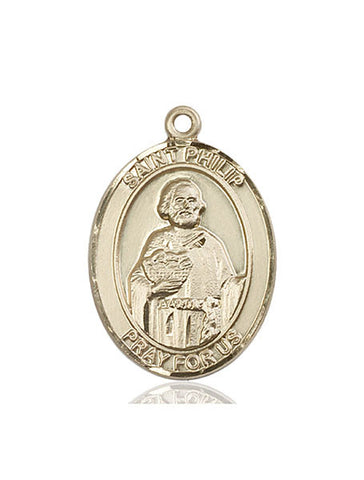 St. Philip The Apostle 14 Kt Gold 1""