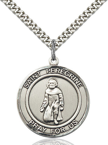 St. Peregrine Sterling Silver 1""