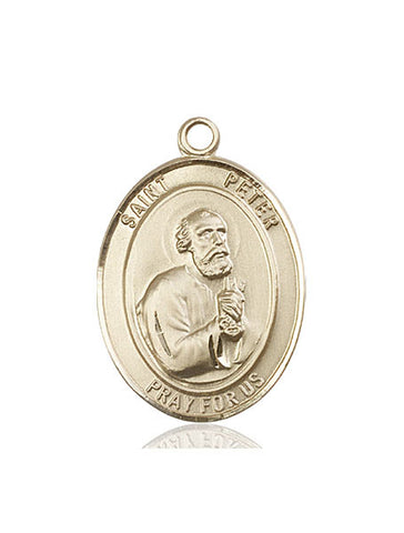St. Peter The Apostle 14 Kt Gold 1""