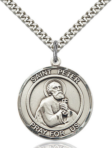 St. Peter The Apostle Sterling Silver 1""