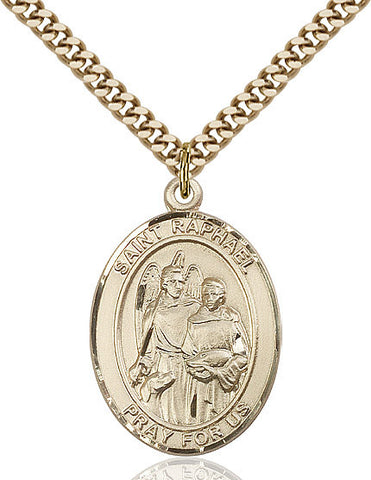 St. Raphael The Archangel Pendant 14kt Gold Filled 1""