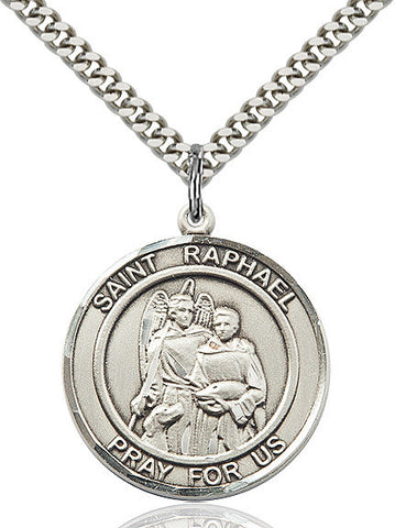 "St. Raphael The Archangel  Sterling Silver 1"" - Discount Catholic Store"