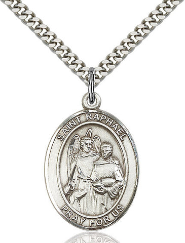 St. Raphael The Archangel Sterling Silver 1""