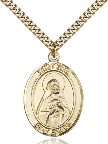 St. Rita Of Cascia Gold Filled 1""