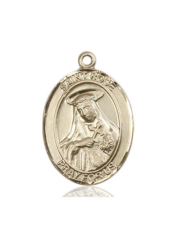 St. Rose Of Lima 14 Kt Gold 1""