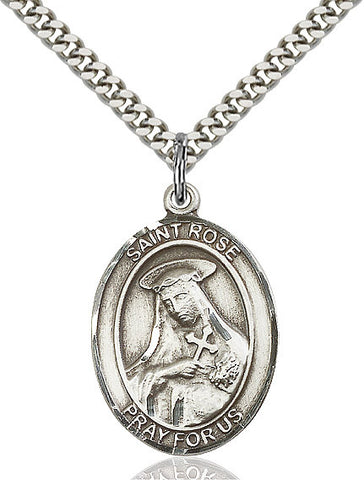 St. Rose Of Lima Sterling Silver 1""