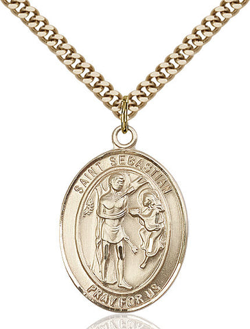 St. Sebastian Gold Filled 1""