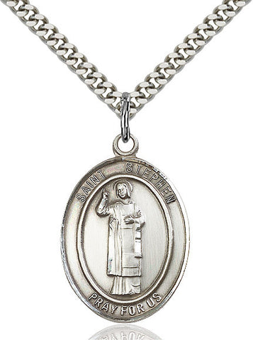 St. Stephen The Martyr Sterling Silver 1""