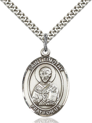 St. Timothy Sterling Silver 1""