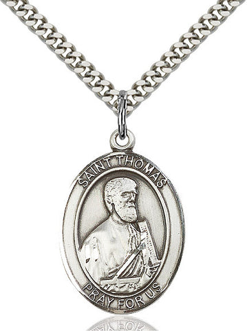 St. Thomas The Apostle Sterling Silver 1""