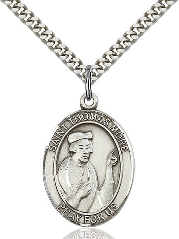 St. Thomas More Sterling Silver 1""