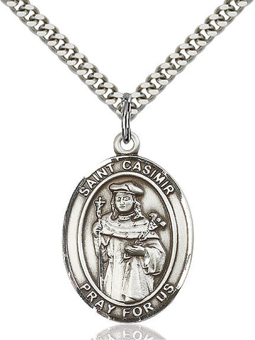 St. Casimir Sterling Silver 1""