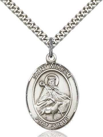 St. William Of Rochester Sterling Silver 1""