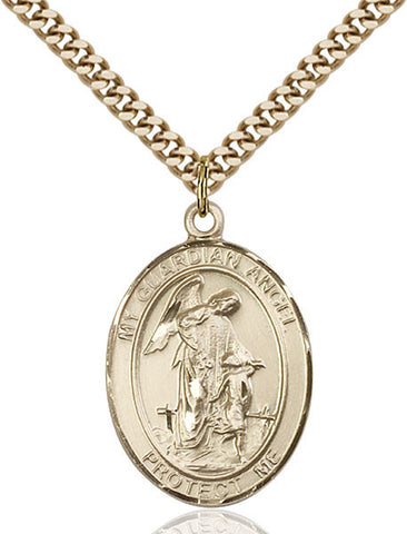 Guardian Angel/paratrooper Pendant  14kt Gold Filled 1""