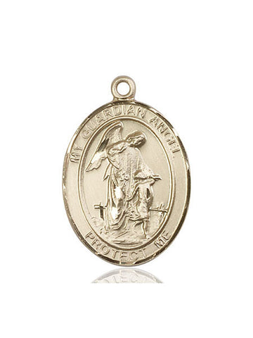 Guardian Angel/paratrooper Pendant  14kt Gold 1""