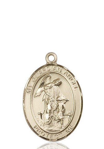 Guardian Angel Pendant  14kt Gold 1""