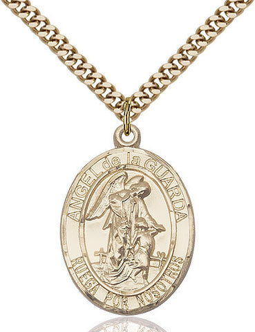 Angel De La Guarda Pendant  14kt Gold Filled 1""