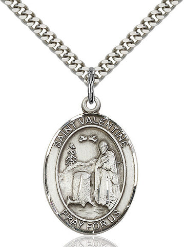 St. Valentine Of Rome Sterling Silver 1""