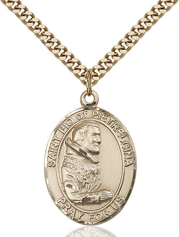 St. Pio Of Pietrelcina Gold Filled 1""