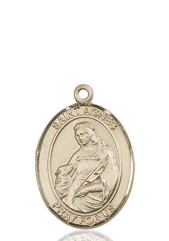 St. Agnes Of Rome 14 Kt Gold 1""