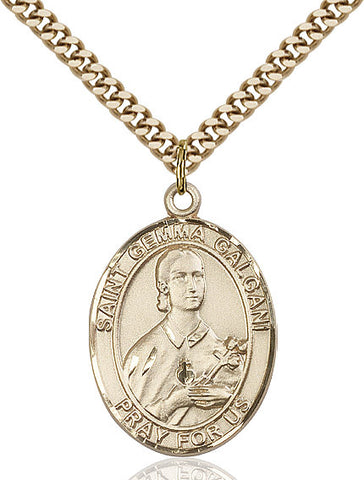 St. Gemma Galgani Gold Filled 1""