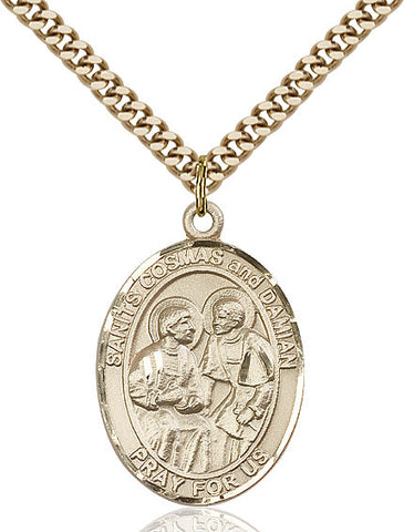 Sts. Cosmas & Damian Gold Filled 1""