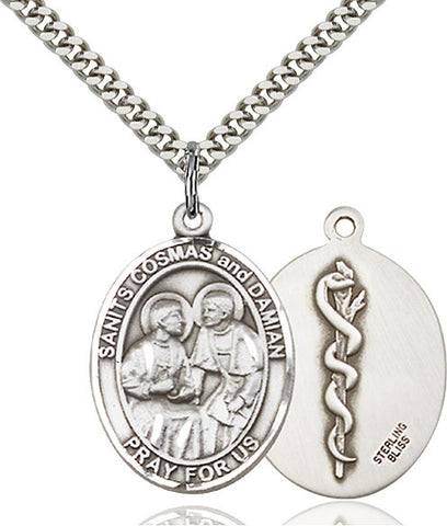 Sts. Cosmas & Damian / Doctors Sterling Silver 1""