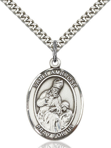 St. Ambrose Sterling Silver 1""