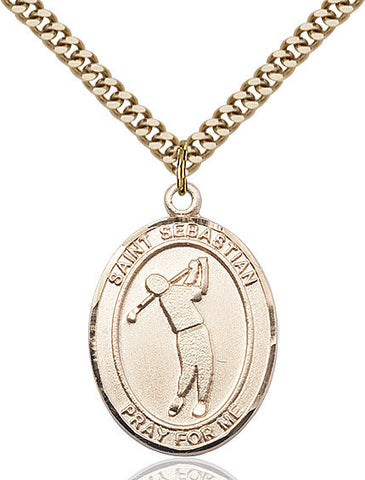 "St. Sebastian / Golf  14kt Gold Filled 1"" - Discount Catholic Store"