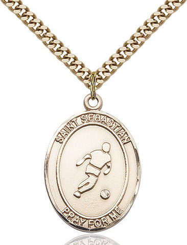 "St. Sebastian / Soccer  14kt Gold Filled 1"" - Discount Catholic Store"