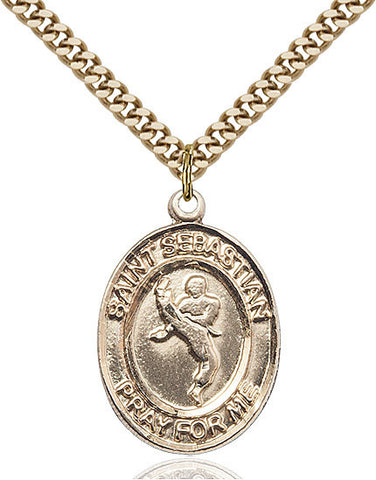 St. Sebastian / Martial Arts Pendant  14kt Gold Filled 1""