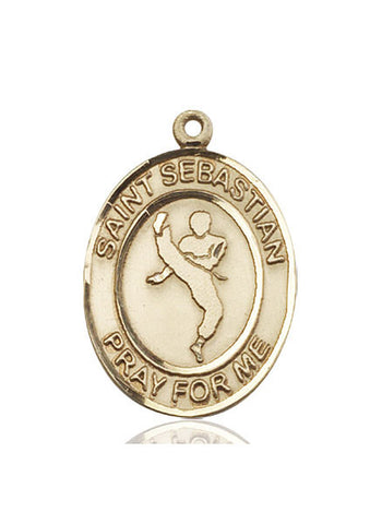 "St. Sebastian / Martial Arts  14kt Gold 1"" - Discount Catholic Store"