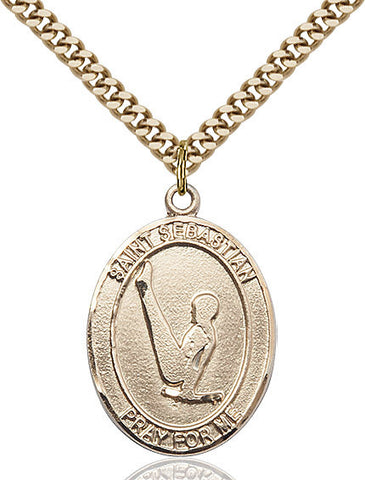 "St. Sebastian / Gymnastics  14kt Gold Filled 1"" - Discount Catholic Store"