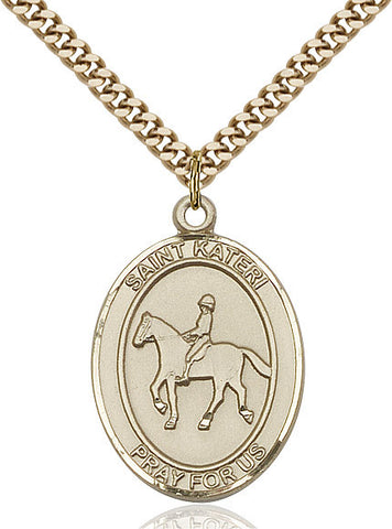 "St. Kateri / Equestrian  14kt Gold Filled 1"" - Discount Catholic Store"