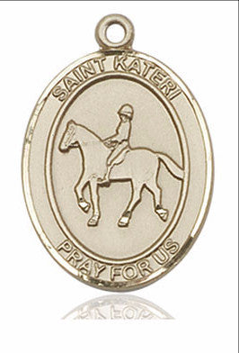 "St. Kateri / Equestrian  14kt Gold 1"" - Discount Catholic Store"