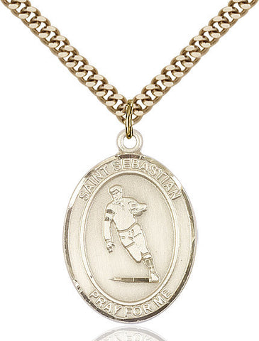 "St. Sebastian / Rugby  14kt Gold Filled 1"" - Discount Catholic Store"