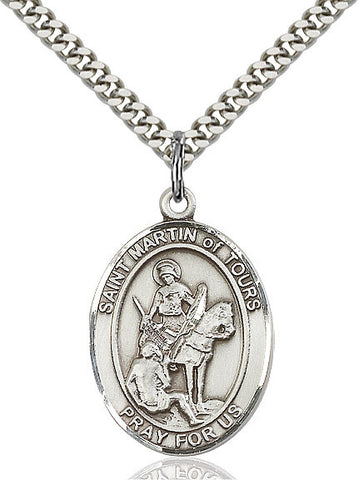 St. Martin Of Tours Sterling Silver 1""