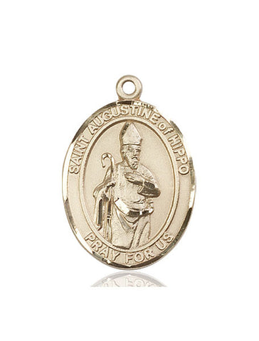 St. Augustine Of Hippo 14 Kt Gold 1""