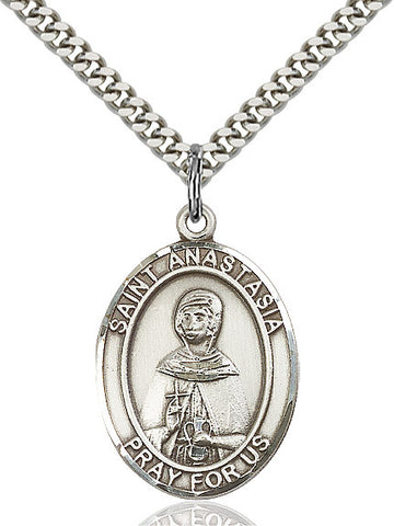 St. Anastasia Sterling Silver 1""