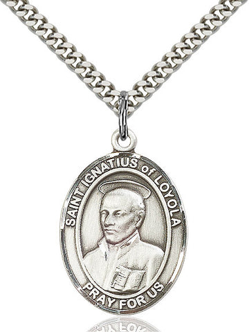 St. Ignatius Of Loyola Sterling Silver 1""