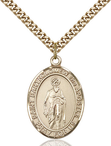 St. Bartholomew The Apostle Gold Filled 1""