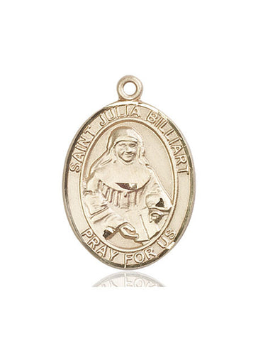 St. Julia Billiart 14 Kt Gold 1""