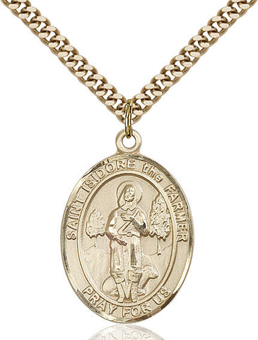 St. Isidore The Farmer Gold Filled 1""