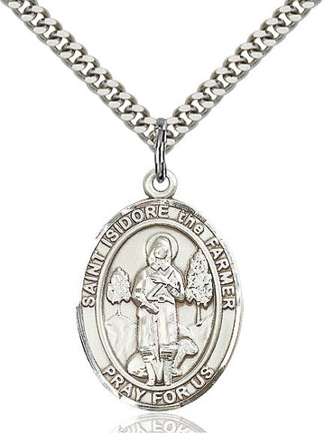St. Isidore The Farmer Sterling Silver 1""