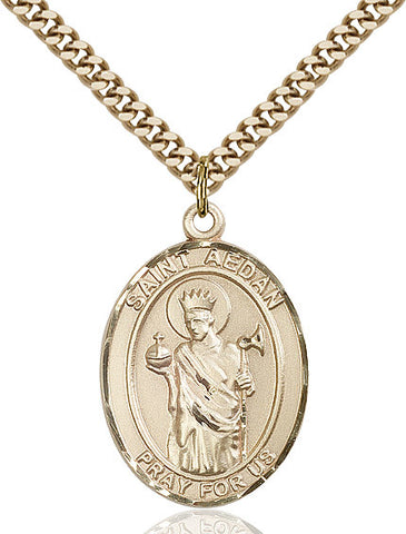 St. Aedan Of Ferns Gold Filled 1""