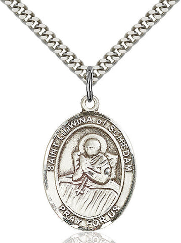 St. Lidwina Of Schiedam Sterling Silver 1""
