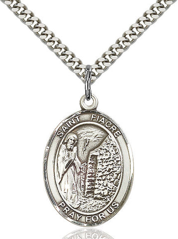 St. Fiacre Sterling Silver 1""