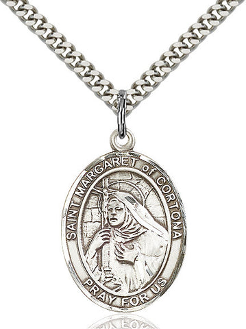 St. Margaret Of Cortona Sterling Silver 1""